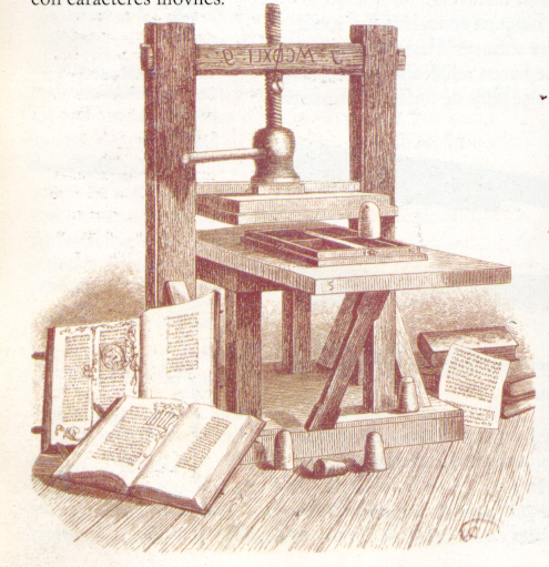 La imprenta de Gutemberg (Fuente: blogdemcb.blogspot.com)