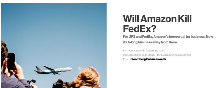 Amazon matará FedEx?