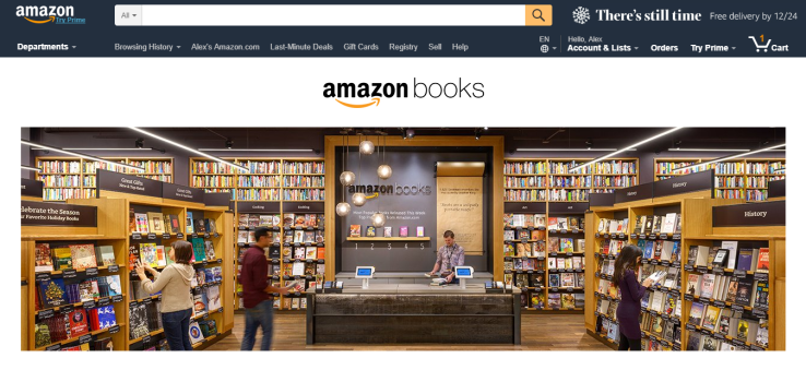 Amazon Books (Fuente: https://www.amazon.com/b?node=13270229011)